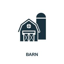 Barn Vector Icon Symbol. Creat...