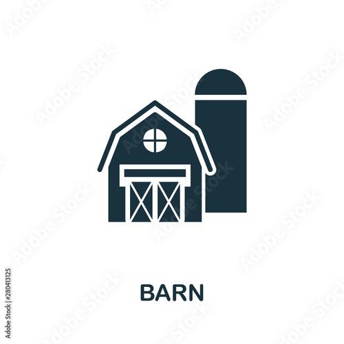 Tableau sur Toile Barn vector icon symbol