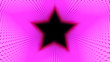 canvas print picture - 3d Illustration, Big pink dots lined up in lines It was put together until it was a star pipe
