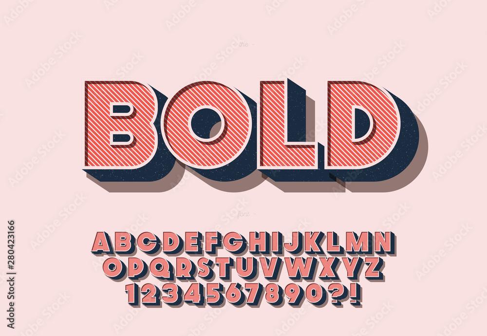 Fototapeta Vector bold font colorful style