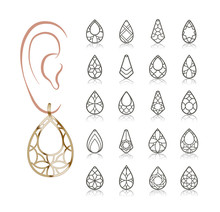 Vector Designs Of Earring