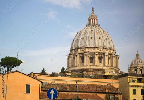 Slika na platnu Vatican city from San Pietro basilica. Rome Italy.
