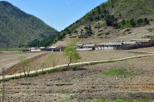Fototapeta North Korea countryside landscape obraz na płótnie