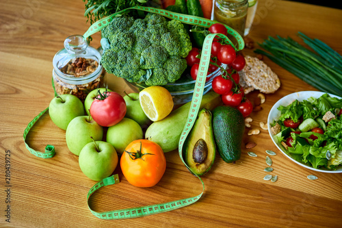 Superb Diet Weight Loss Breakfast Concept With Tape Measure Download Free Architecture Designs Scobabritishbridgeorg