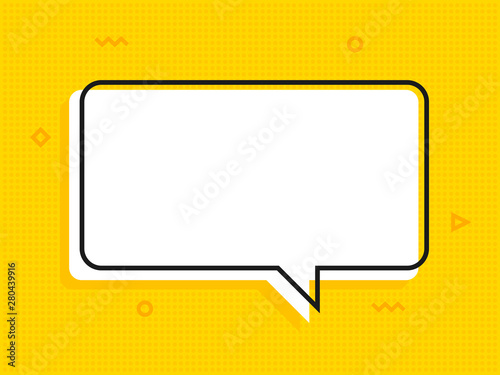 Foto Quote text bubble. Commas, note, message and comment Vector