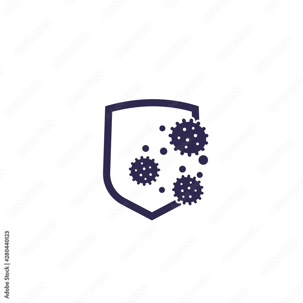 Fototapeta antibacterial protection or immune system icon