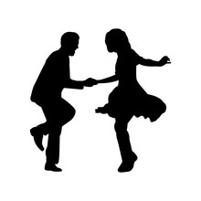Swing Dance Silhouette Vector