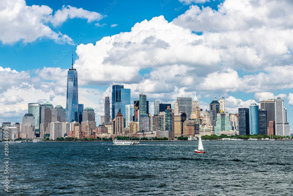 Fototapety, obrazy: Skyline of skyscrapers in Manhattan, New York City, USA