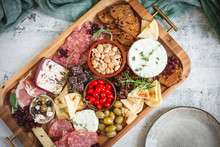 Charcuterie Board With Cheese And Olives