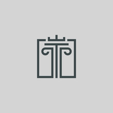 Pillar Vector For Attorney Or Law Logo Design Inspiration With Line Style