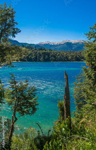 Photo Lake Nahuel Huapi and Villa La Angostura town, Argentina