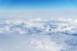 Leinwandbild Motiv Panoramic cloudscape, view from airplane