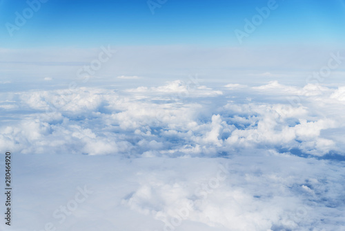 Panoramic cloudscape, view from airplane - 280464920