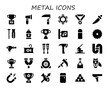 metal icon set