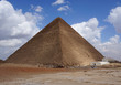 Pyramid of Khufu (Cheops Pyramid) the oldest and largest of the three pyramids in the Giza pyramid complex.