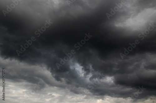 Canvas Prints Heaven storm clouds in the sky