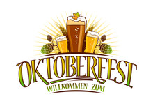 Oktoberfest Logo Sign Isolated...