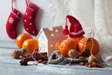 Christmas Card With Tangerines...