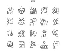 Personality Well-crafted Pixel Perfect Vector Thin Line Icons 30 2x Grid For Web Graphics And Apps. Simple Minimal Pictogram