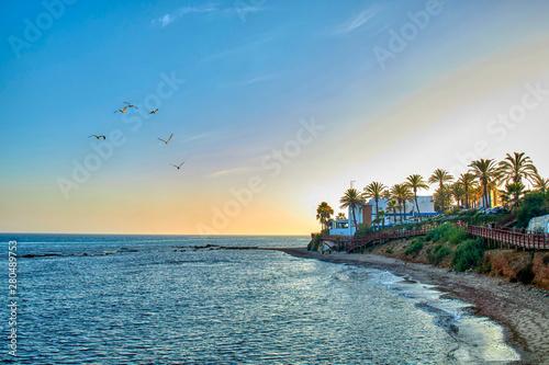 Photo Playas de la Costa del Sol al atardecer