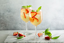 Summer White Sangria With Stra...