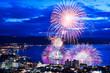 canvas print picture - 【長野県】諏訪湖の花火
