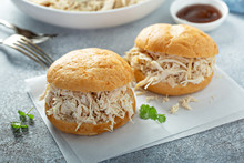 Sandwiches With Pulled Chicken...