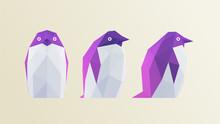Cool Penguin. Set Of Gradient ...