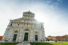 Pisa Cathedral Facade In Italy