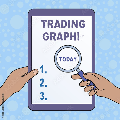 Word Writing Text Trading Graph Business Photo Showcasing