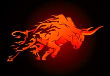 Bull Raging Run Fury