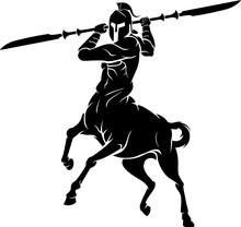 Centaur Double Spear Blade, Fantasy Warrior