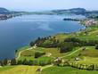 Artificial lake Sihlsee or Stausee Sihlsee, Willerzell - Canton of Schwyz, Switzerland