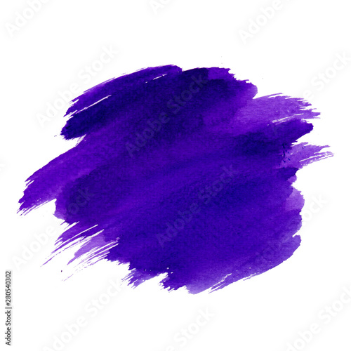 Purple color gradation brush texture by hand paint watercolor draw on a white background,Card,Vector,banner,illustration - 280540302