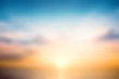 canvas print picture International Day for the Preservation of the Ozone Layer concept:  Beautiful sunset sky above clouds with dramatic light