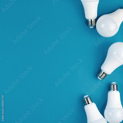 Photo  Energy saving and eco friendly LED light bulbs