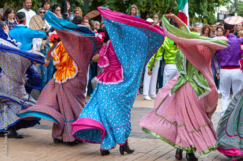 Photo  Mexico greeting International Folklore Festival at Sofia Bulgaria