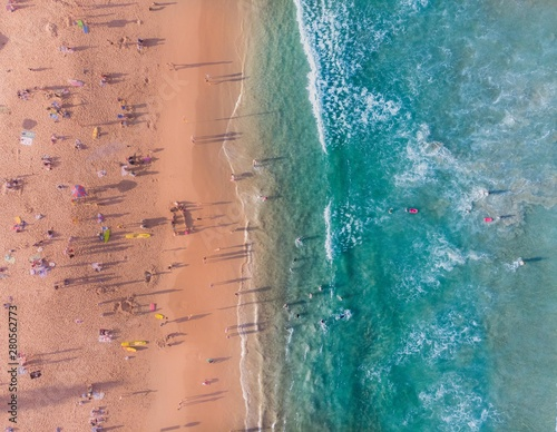 A crowded afternoon in Manly Canvas Print