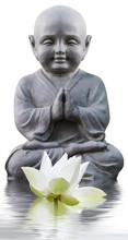Statue Of Buddha Isolated On White Background
