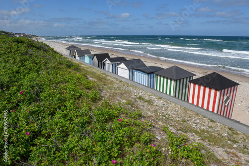 Beach Cabins Of The Coast At Regeleje In Denmark Buy This