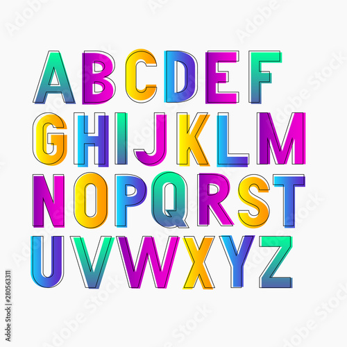Cuadros en Lienzo Vector bold bright condensed gradient grotesque font