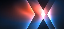 Neon Shiny Color Lines Background. Abstract Colorful Web Template Geometric Modern Technology Concept.