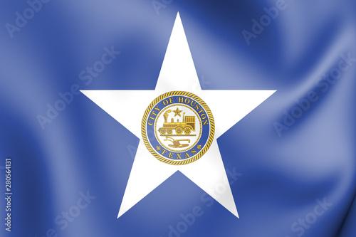 Valokuva  3D Flag of Houston (Texas), USA