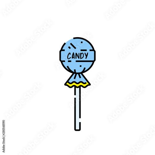 Carta da parati Lollipop candy line icon