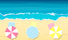 Sea Beach. Top View Of Summer ...