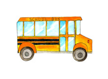 Yellow School Bus Isolated On ...
