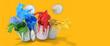 Leinwanddruck Bild - Buntes Farben Konzept als Header Banner
