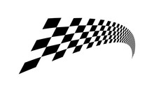 Racing Flag Design Template. Race Flag Design Vector. Speed Flag Simple Design Illustration Vector.