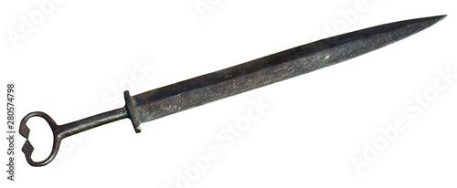 Valokuvatapetti Old wrought sword