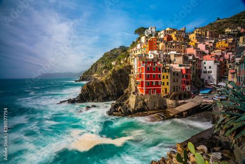 Recess Fitting Mediterranean Europe Riomaggiore in Cinque Terre,La Spezia province in Liguria Region, northern Italy